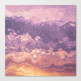 Gold violet pattern Canvas Print