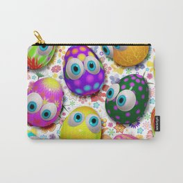 Cute Easter Eggs Cartoon 3d Pattern Carry-All Pouch