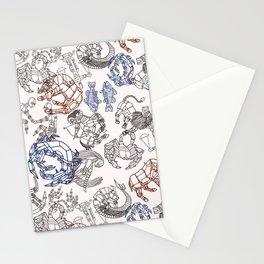 Zodiac Pattern Stationery Cards