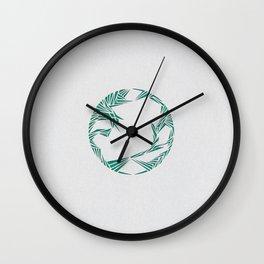 Pull (Green) Wall Clock