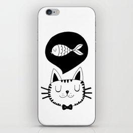 Cat and fish iPhone Skin