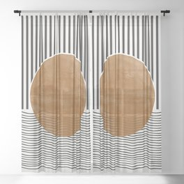 Abstract Modern Poster Sheer Curtain