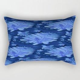 Chicory in blue.... Rectangular Pillow