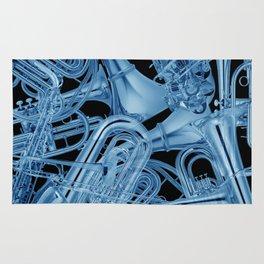 Brass Instruments Blue Rug