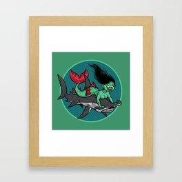Mermaid Mayhem Framed Art Print