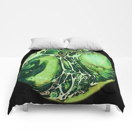 Tint Blot - Cracked Glass Green Comforters