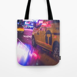 Taxi NYC Life (Color) Tote Bag
