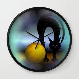 mooncat's property Wall Clock