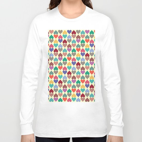 Colorful Love Pattern X Long Sleeve T-shirt