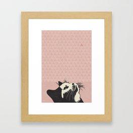 Cat on Pink - Lo Lah Studio Framed Art Print