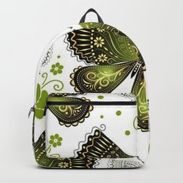 Colorful Butterflies and Flowers V16 Backpack