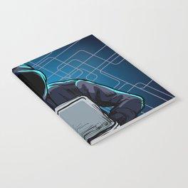 Computer hacker spread a net Notebook