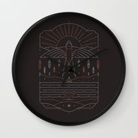 u2 Wall Clocks featuring The Navigator by Rick Crane