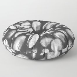 roasted coffee beans texture acrbw Floor Pillow
