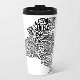 Typographic New York Travel Mug