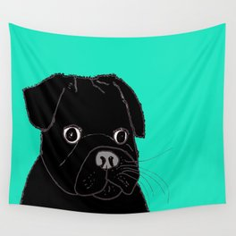 The Contemplative Pug. Wall Tapestry