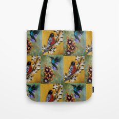 Hummingbird and Robin Tote Bag