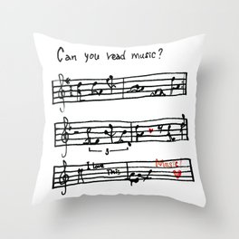 Can you read music? Throw Pillow