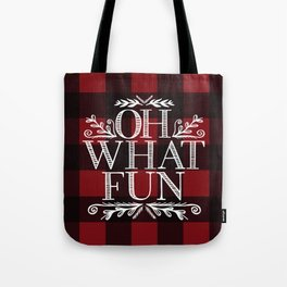 Oh What Fun Red Tote Bag