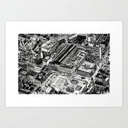 Queen St Station, Glasgow Art Print