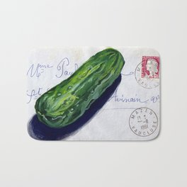 Pickle on French Envelope in Gouache Bath Mat