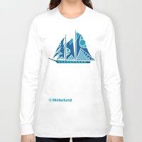 sailboat Long Sleeve T-shirts featuring Sailboat by Hinterlund