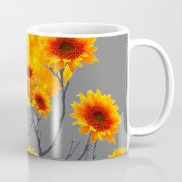 Red Gold Color Fantasy Sunflowers  Flowers Moon  Art Coffee Mug