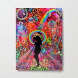 Autumn Fantasy Rainbow Witch Metal Print