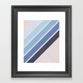 Blue Color Drift Framed Art Print