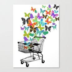 Urban Butterflies Canvas Print