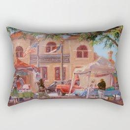 Market Day — City Market, Raleigh, North Carolina Rectangular Pillow