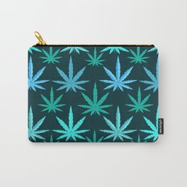 Marijuana Teal Weed Carry-All Pouch