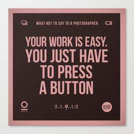 Press a button Canvas Print