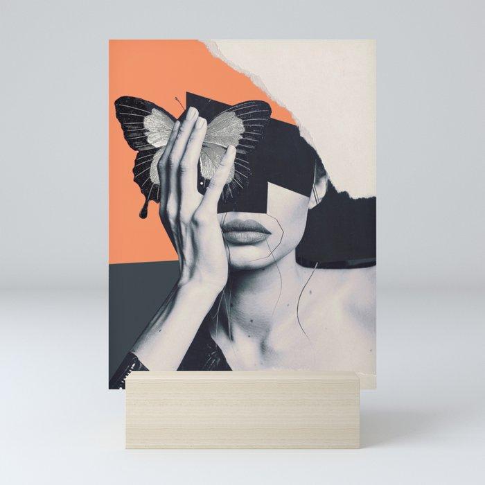 collage art / butterfly Mini Art Print