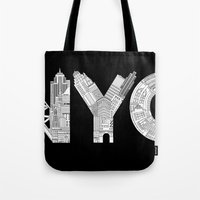 nyc Tote Bags featuring NYC  by Robert Farkas