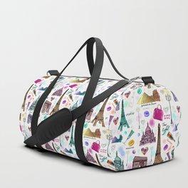Voyage à Paris (Watercolor) Duffle Bag