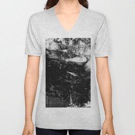 Reflecting Pond (Black & White) Unisex V-Neck