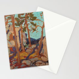 Tom Thomson - Pine Cleft Rocks - Canada, Canadian Oil Painting - Group of Seven Stationery Cards