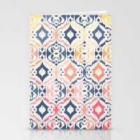 damask Stationery Cards featuring Tropical Ikat Damask by micklyn