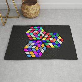 L333 // Rubik's Cube Isometric Illustration Rug