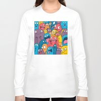 weird Long Sleeve T-shirts featuring Weird Bros by Chris Piascik