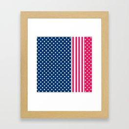 Abstract Patriotic pattern . Framed Art Print