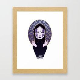 noh face Framed Art Print