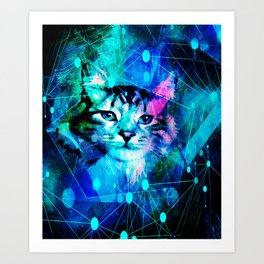 Kitty Cat Laser Lights at the Aleurorave Art Print