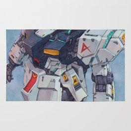 Nu Gundam watercolor Rug