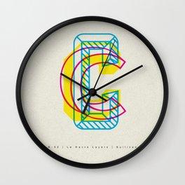"3D ""C"" Wall Clock"