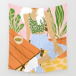 Kawa Tea #illustration #fashion Wall Tapestry