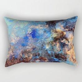 Pacific Lagoon - Original Abstract Art by Vinn Wong Rectangular Pillow