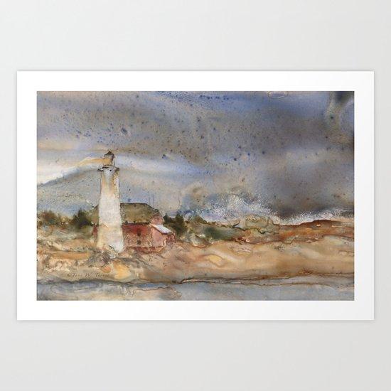 Menagerie Island Lighthouse Art Print