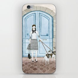 Lady With Two Dogs iPhone Skin